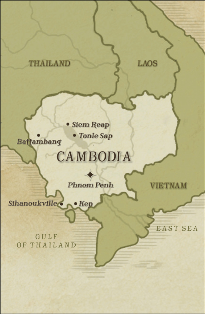 Map of Cambodia and the surrounding areas