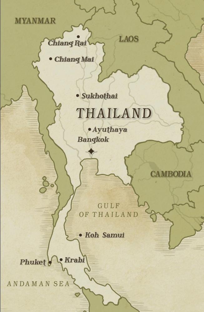 THAILAND DESTINATION MAP