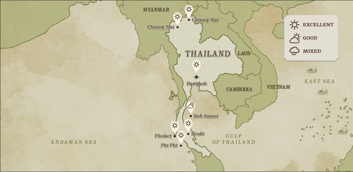 THAILAND WEATHER MAP January