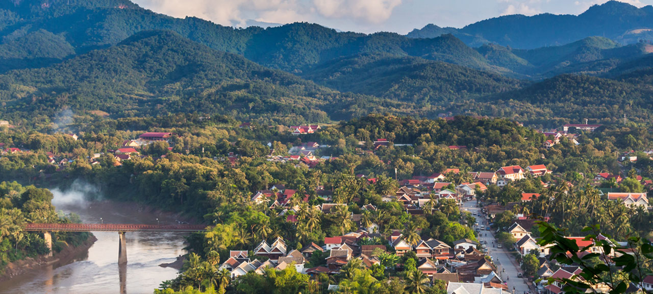 Beautiful city view of Luang Prabang in Laos