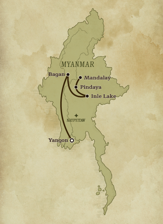 Country Map of Myanmar