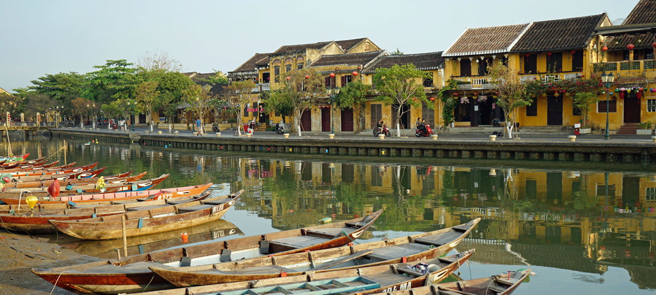 View across the river oft old Hoi An Town on a photo tour with Trails Of Indochina