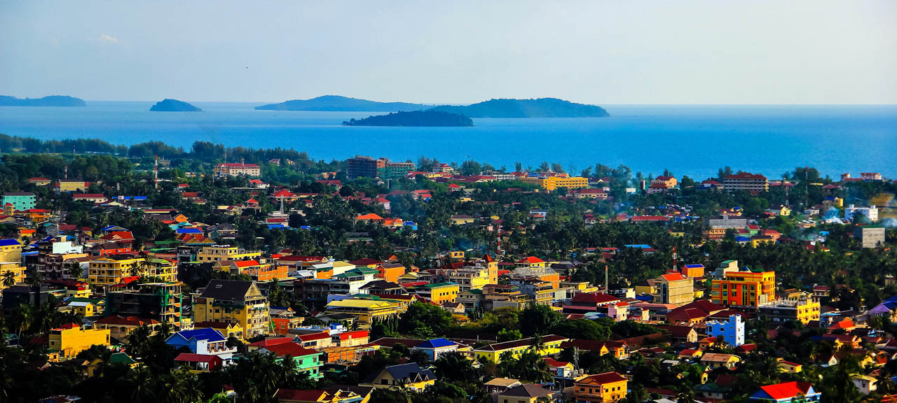 Aerial View of the City of Sihanoukville in Cambodia