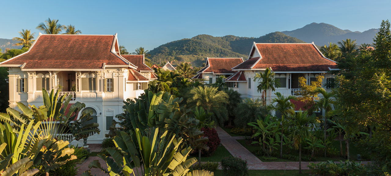 View overlooking the Luang Say Residence located in the UNESCO heritage city of Luang Prabang