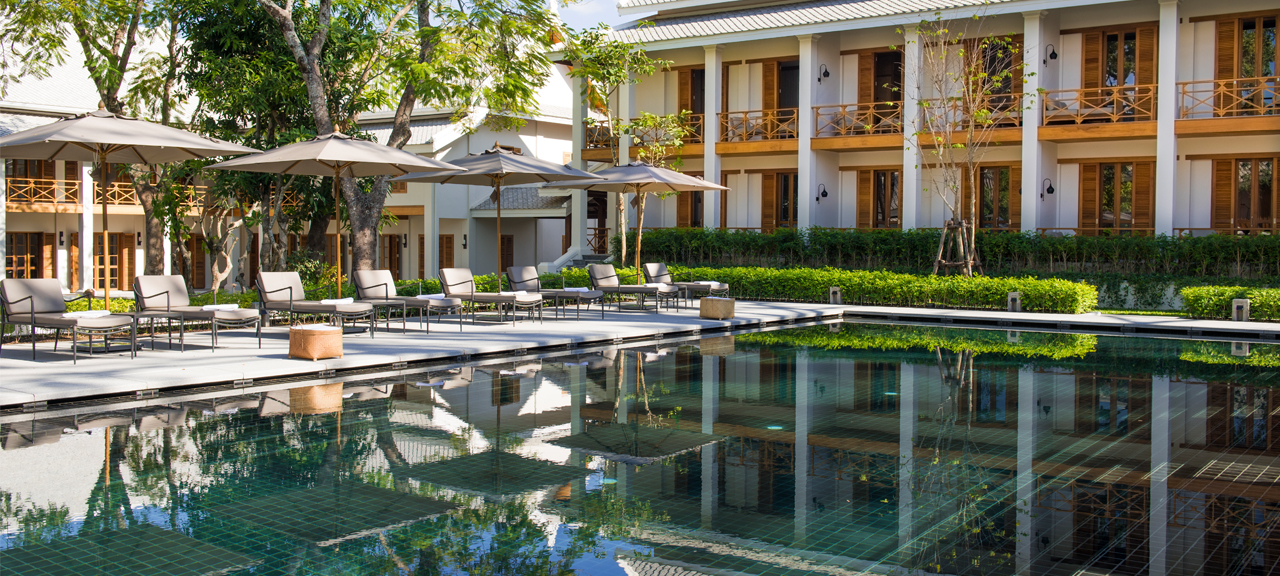 The former French officer quarters during the Indochina era, Avani+ Luang Prabang is a modern boutique hotel overlooking a peaceful infinity pool