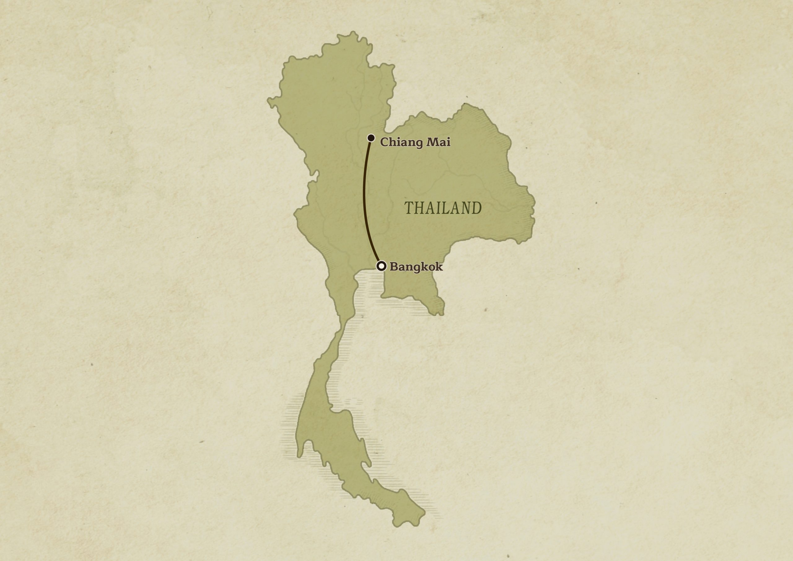 Thailand Country Map