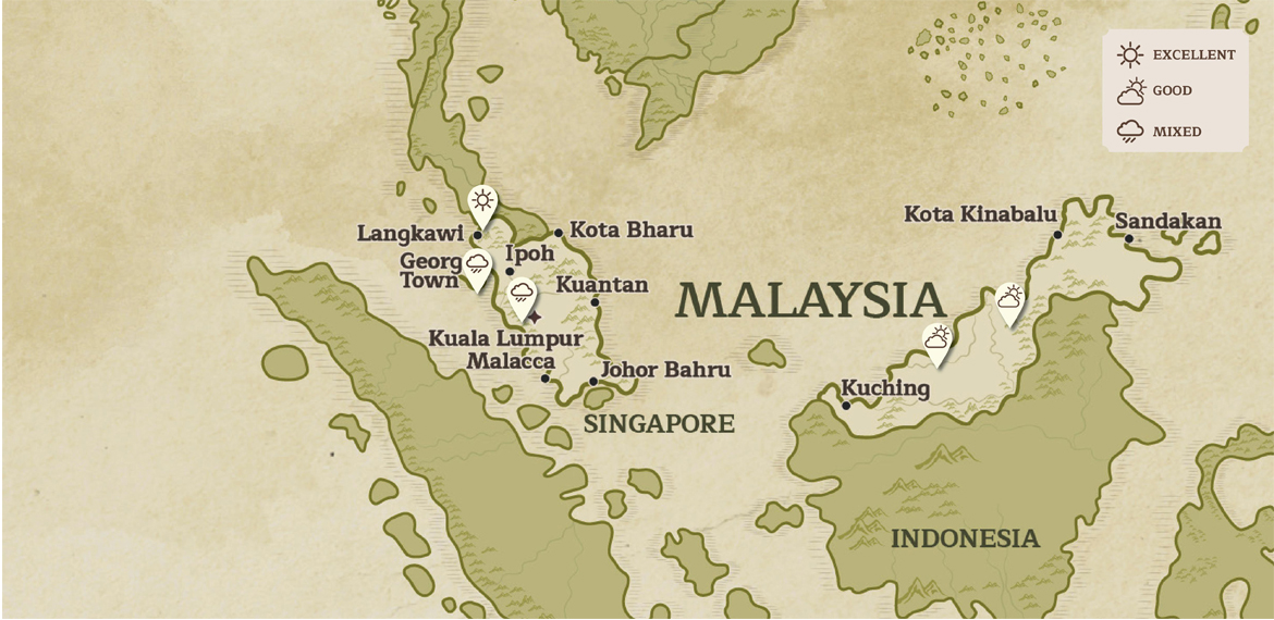 Country Map of Malaysia