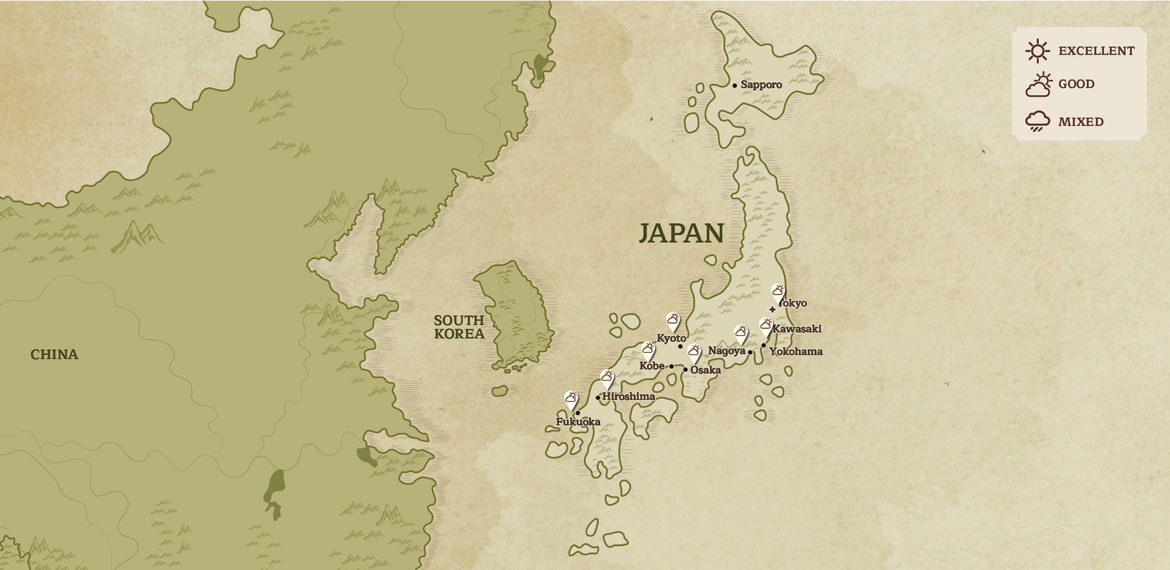 Japan Map When to Go January
