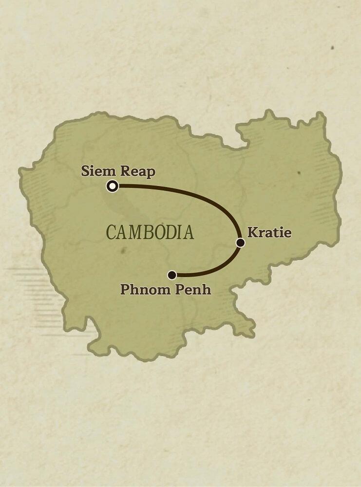 Map Of Cambodia, Family adventure in Cambodia tour