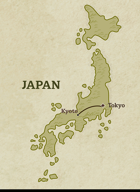 Travel map of Gastronomic Delights Of Japan Tour from Tokyo to Kyoto in Japan designed by Trails Of Indochina