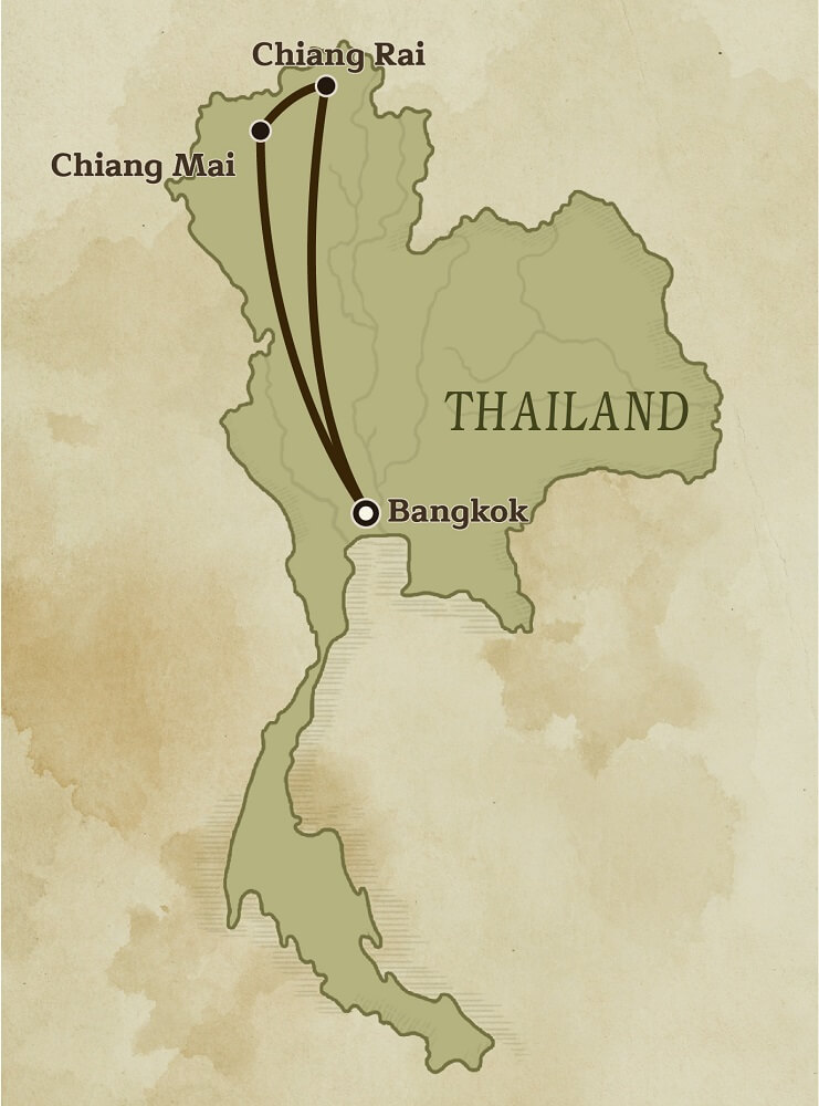 Map of Thailand Philanthropic Itinerary
