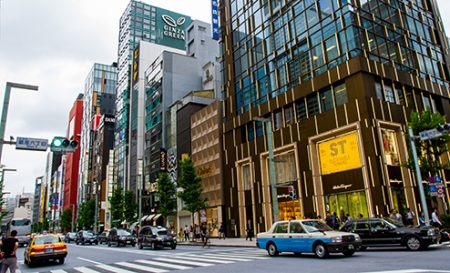 Ginza, Tokyo's most upmarket shopping and fine-dining district