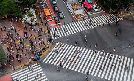 Shibuya Crossing the world's largest pedestrian crossing